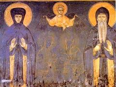 Икона, изображающая родителей св.Саввы